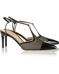 Reed Krakoff Mesh and Patentleather Tbar Pumps - Lyst