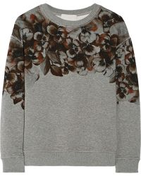 Jason Wu - Floral-Print Cotton Sweatshirt - Lyst