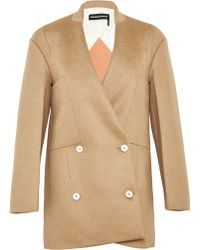 Sonia Rykiel  Jersey Bonded Camel Hair Jacket - Lyst