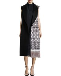Edun - Moroccan-Weave Fringed Vest - Lyst