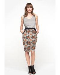 Heidi Merrick - Two Tone Pencil Skirt - Lyst
