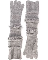 Agnona Long Gloves - Gray