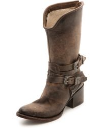 Freebird By Steven Pikes Wrap Strap Boots Stone - Lyst
