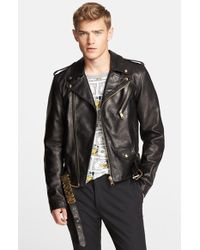 Moschino Leather Moto Jacket - Lyst