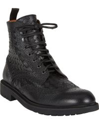 Givenchy Basketweave Wingtip Boots - Lyst