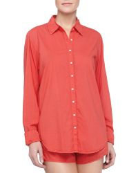 Xirena Poplin Cotton Sleep Shirt - Lyst