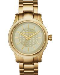 Karl Lagerfeld Unisex Slim Chain Goldtone Watch gold - Lyst
