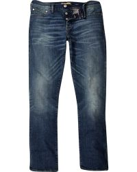 River Island Mid Wash Dylan Slim Jeans - Lyst