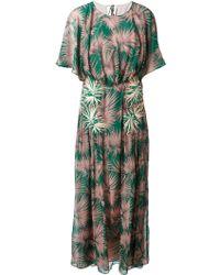 MSGM Palm Tree Print Dress - Lyst