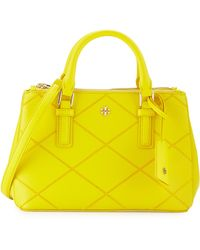 Tory Burch Robinson Micro Double-Zip Leather Shoulder Bag - Lyst