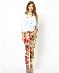Denim & Supply Ralph Lauren - Skinny Jeans In Leaf Floral - Lyst