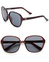 Missoni 57mm Round Acetate Sunglasses - Lyst