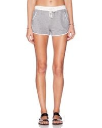 Daftbird Gray Contrast Shorts - Lyst