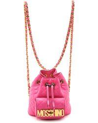 Moschino Shoulder Bag - Pink - Lyst