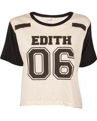 Edith A. Miller Black Sporty Tee - Lyst
