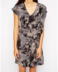 American Vintage Silk Printed Dress - Lyst