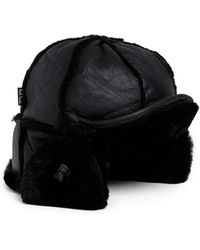 Paul Smith Leather Chapka Hat - Lyst