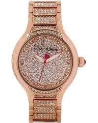 Betsey Johnson Ladies Rose Gold Tone Glitz Watch - Lyst