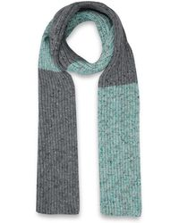 Jonathan Saunders Mid Grey Colour Block Ribbed Woolblend Scarf - Lyst
