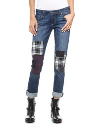 Paige Jimmy Jimmy Jeans with Patches Camden - Lyst