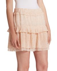 See By Chloé | Pleated Georgette Skirt | Lyst