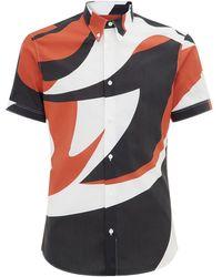 Alexander McQueen Abstract Shape Shirt - Lyst