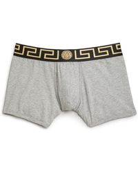 Versace Iconic Long Boser Briefs gray - Lyst