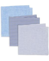 Burma Bibas Cotton Pocket Square Gift Set - Blue