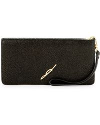 B Brian Atwood - Glossy Leather Wallet - Lyst