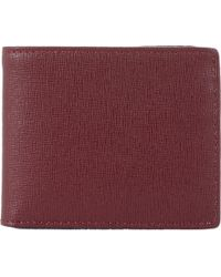 Barneys New York Billfold With Id Flap red - Lyst