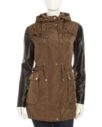 Betsey Johnson Weatherresistant Anorak Jacket - Lyst