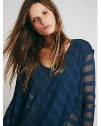 Free People We The Free Shadow Stripe Tunic - Lyst