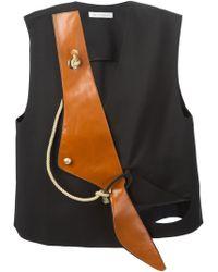 JW Anderson 'Wave' Vest - Black