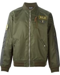 P.a.m. Perks And Mini Patch Appliqué Bomber Jacket - Lyst
