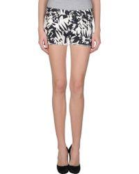 IRO Denim Shorts black - Lyst