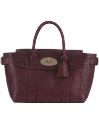 Mulberry Small Shrunken Calf Bayswater Buckle Tote - Lyst