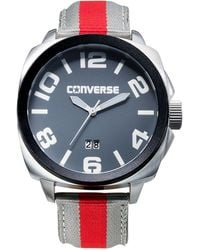 Converse - Men'S Andover Red And Gray Padded Nylon Strap 45Mm Vr036-065 - Lyst