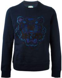 Kenzo 'Tiger' Logo Sweater - Lyst