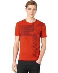 Calvin Klein Red Strata Tshirt - Lyst