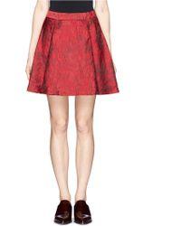Alice + Olivia Vernon Floral Jacquard Pleat Skirt - Lyst
