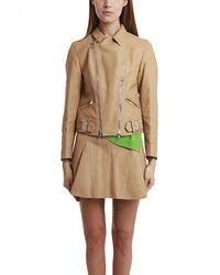 3.1 Phillip Lim Motorcycle Jacket With Shirt Collar - Lyst