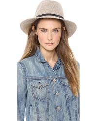 Rag & Bone Floppy Brim Fedora  Natural Blend - Lyst