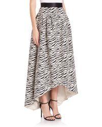 ABS By Allen Schwartz - Hi-lo Zebra-print Skirt - Lyst