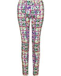 Mary Katrantzou Jeans Foli Rose Pink - Lyst
