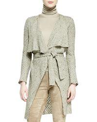 Ralph Lauren Collection Helene Drapeneck Sweaterknit Jacket - Lyst
