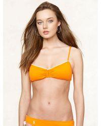 Ralph Lauren Blue Label Bandeau Bikini Top - Lyst