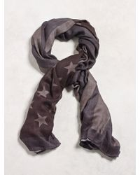 John Varvatos - Antique Printed Flag Scarf - Lyst