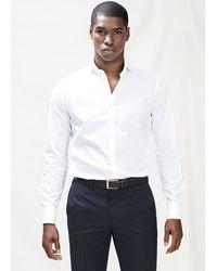 Mango Slim Fit Textured Cotton Shirt - Lyst
