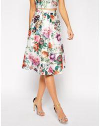 True Decadence Botanical Floral Midi Skirt - Lyst