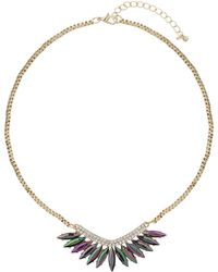 Topshop Navette Stone Necklace - Lyst